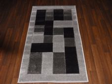 Modern New Rugs Approx 5x2ft6 80x150cm Woven Thick best quality ,Blocks Silver